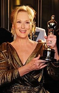 Meryl Streep with Academy Award