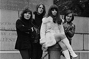 Dutch rock group Shocking Blue in London for TV appearances to promote their latest single 'Venus', 6th November 1969.