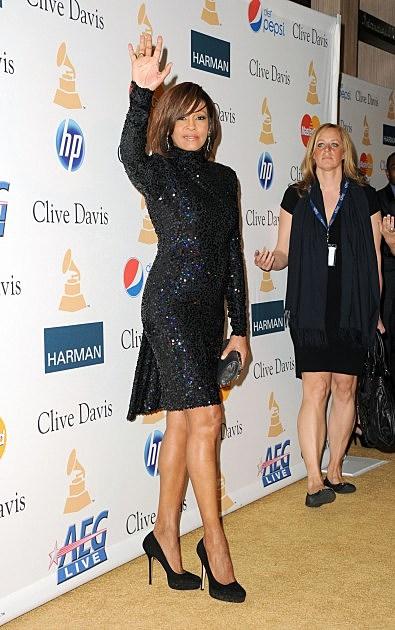Whitney Houston at Awards Ceremony