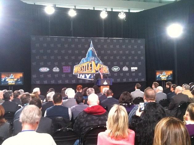 Governor Christie announces Wrestlemania event