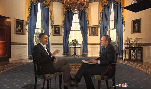 President Obama interviewed by Matt Laurer