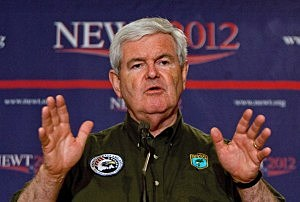 Newt Gingrich campaigns in Alabama