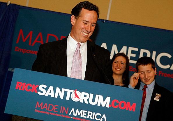Rick Santorum celebrates primary wins in Louisiana