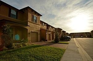 Homes sit along Retreat View Circle near where Trayvon Martin was shot by George Michael Zimmerman
