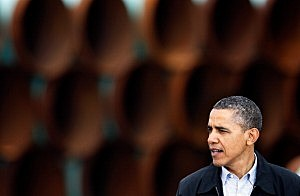 President Obama speaks at southern site of the Keystone oil pipeline (Tom Pennington/Getty Images)
