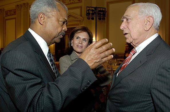 Congressman Donald Payne with Senator Frank Lautenberg