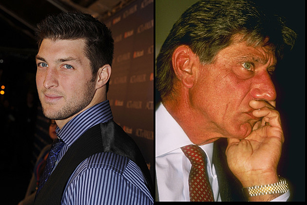 Tim Tebow and Joe Namath