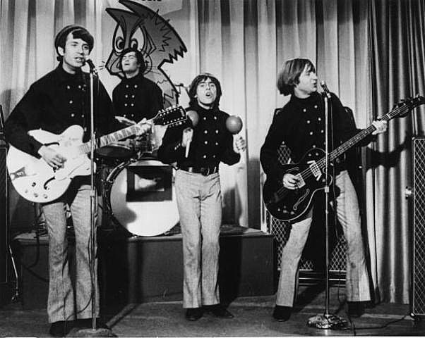 American pop group The Monkees. Left to right are Mike Nesmith, Micky Dolenz, Davy Jones and Peter Tork