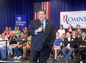 Governor Christie campaigns for Mitt Romney in Illinois