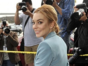 Lindsay Lohan outside Airport Courthouse in Los Angeles