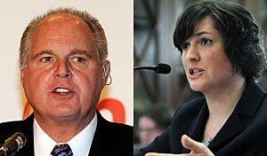 Rush Limbaugh and Sandra Fluke (Getty Images)