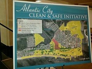 Atlantic City Clean & Safe Initiative map
