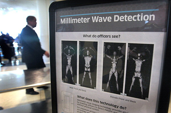 TSA Demonstrates Full Body Scanners At Midway Airport