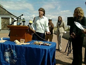 Clean Ocean Action Executive Cindy Zipf Shows Some of Debris Found on Jersey Shore (Ilya Hemlin Townsquare Media NJ)