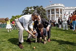 President Obama at the White House Easter Egg Roll