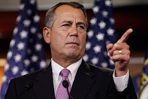John Boehner holds weekly press briefing at U.S. Capitol