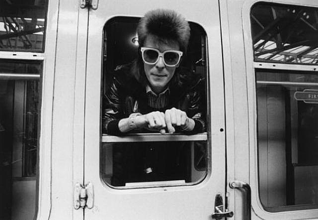 Pop singer David Bowie prepares to do some mileage with British Rail.