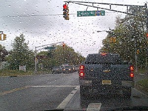 Rain through the windshield in Beachwood (Dan Alexander, Townsquare Media NJ)