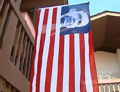 Obama Flag in Lumberton