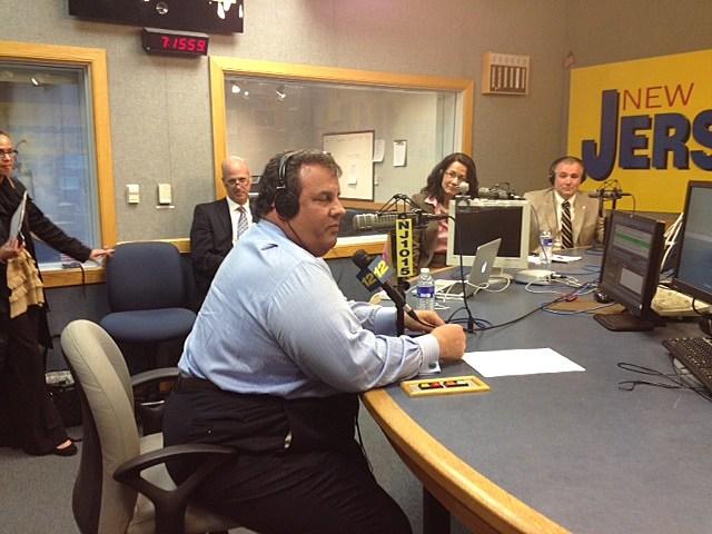 "Gov. Christie in the studio for ""Ask the Governor"""