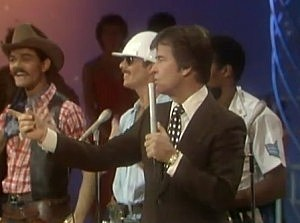 Dick Clark with the Village People on American Bandstand