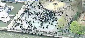 Evacuation at World Financial Center