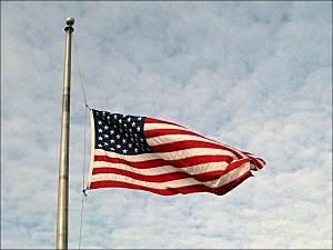 flag half staff