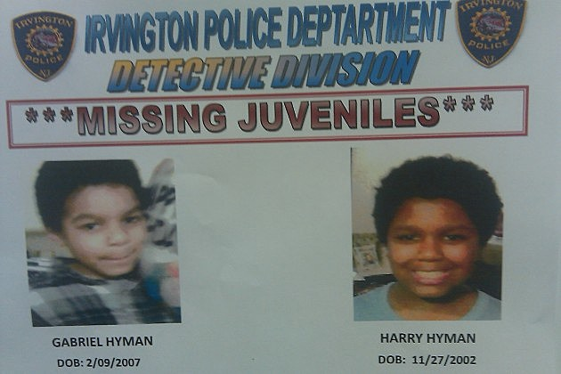 Irvington Police missing children poster