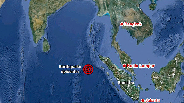 Indonesian earthquake location