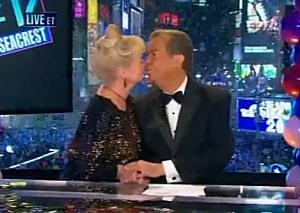 Dick Clark welcomes 2012 with a kiss on ABC's New Years Rockin' Eve
