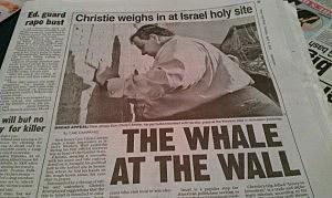 NY Post Christie headline