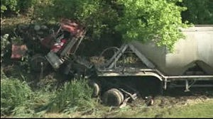 Tractor trailer involved with accident on New Jersey Turnpike