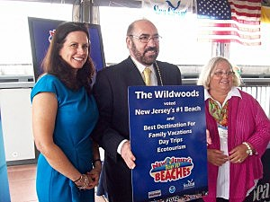 (L-R) Grace Hanlson, Executive Director of Travel & Tourism State of NJ & Ben Rose, Director of Marketing and Tourism For Wildwood