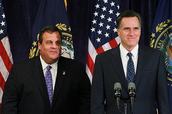 Governor Chris Christie and Mitt Romney