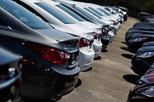 Hyundai vehicles on a dealer lot