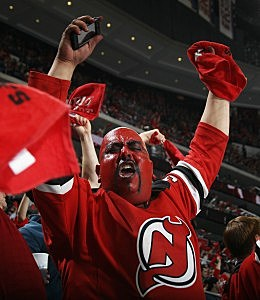 The NJ Devils don't want to see Blue in the Prudential Center during the Conference Finals