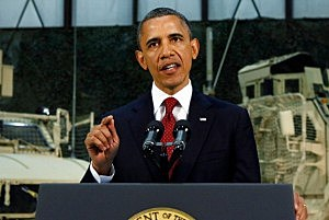 President Barack Obama visits Bagram Air Base in Kabul