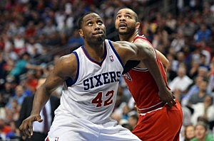 Elton Brand during the Sixers playoff series with Chicago.