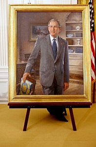 he official portrait of former U.S. President George W. Bush