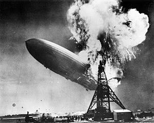 Hindenburg disaster at Lakehurst
