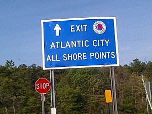Atlantic City Expressway sign