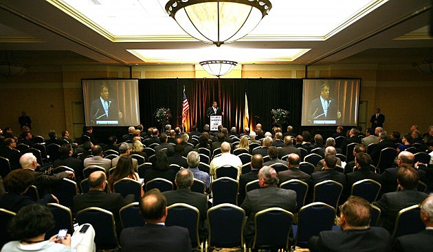Chris Christie speaks at the New Jersey Alliance Annual Transportation Conference in Trenton