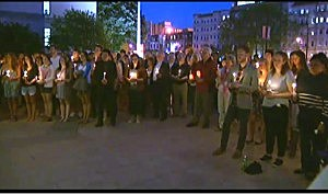 Vigil held at Boston University to remember Daniela Lekhno and other victims of an accident in New Zealand