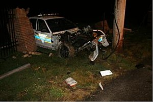 An officer crashed into a pole in Cherry Hill (Cherry Hill Police Dept.)