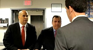 Governor Christie And Mayor Booker