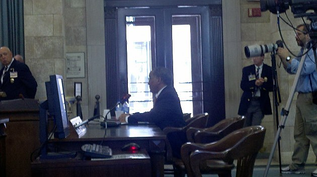 Bruce Harris in front of the Senate Judiciary Committee.