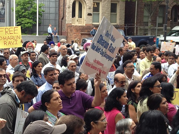 Rally for Dharun Ravi in Trenton