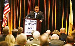 Chris Christie speaks at transportation conference. (Tim Larsen)