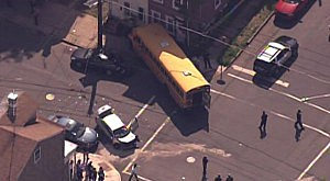 School bus into a home on Division Street in Trenton.