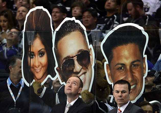 Floating Heads of the cast of the Jersey Shore were at Game of the Stanley Cup Finals